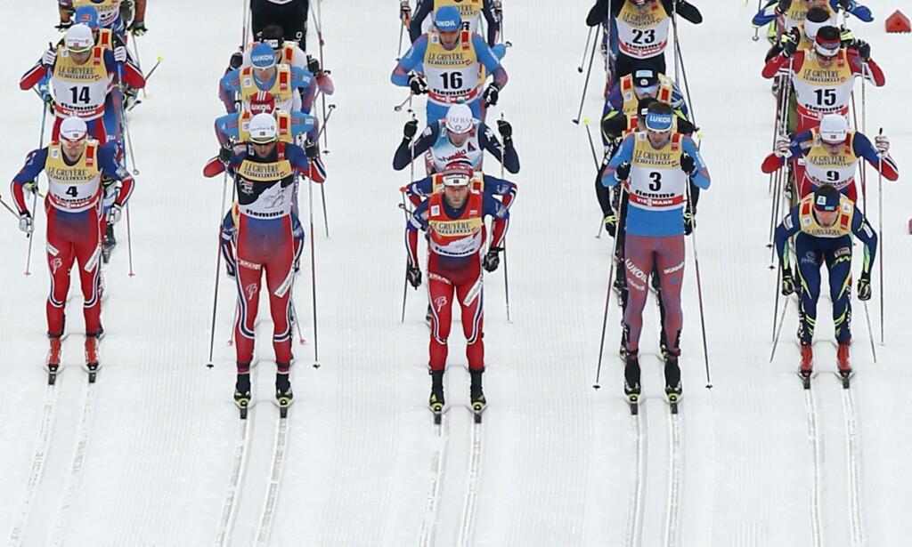 SAMMEN MOT DOPING: I dag får FIS et opprop fra verdenscupløperne i Davos der de ber skilederne sikre et rent startfelt. <br>Foto: REUTERS/Alessandro Garofalo/NTB Scanpix