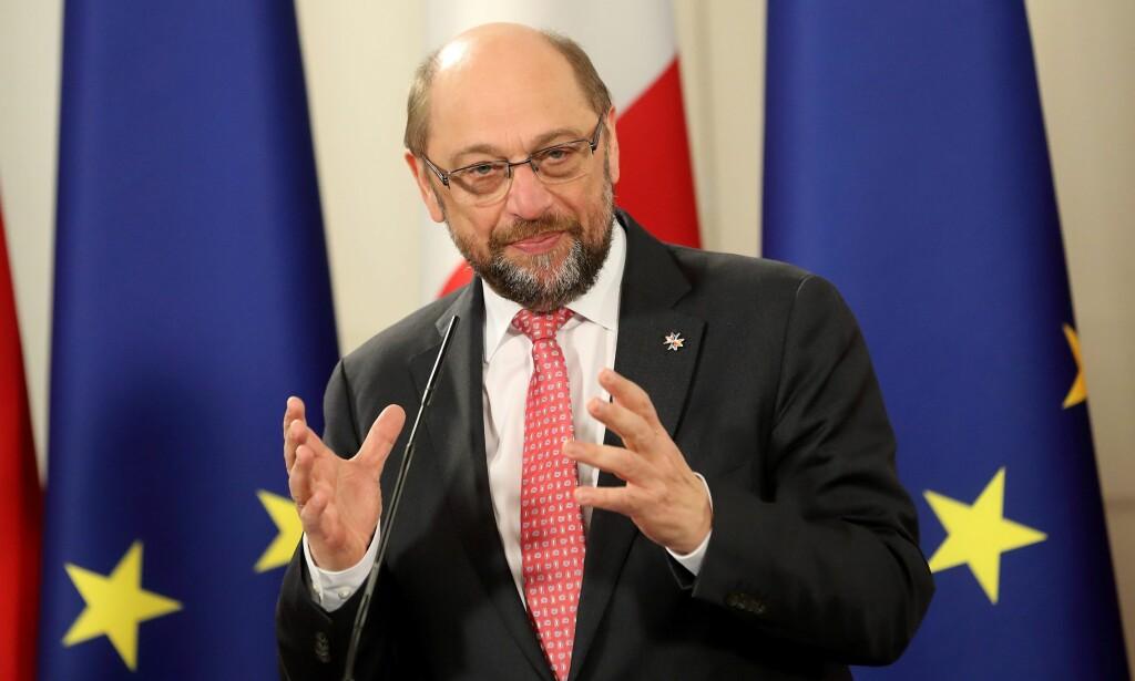 EUROPEEREN: Martin Schulz er europeeren som kan utfordre Angela Merkel fra Brussel. Foto: EPA / DOMENIC AQUILINA / NTB / Scanpix