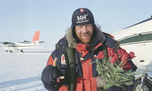 NORDPOLEN: i 1994 ble Børge Ousland førstemann til å gå ski til polpunktet uten hjelp eller etterforsyninger underveis. Det tok ham 52 dager. Siden den gang har eventyreren opplevd store endringer med isen. Foto: NTB Scanpix
