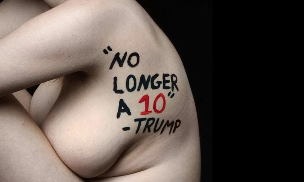 image: 18-åring fikk venner til å kle seg nakne for å vise avsky mot Trump