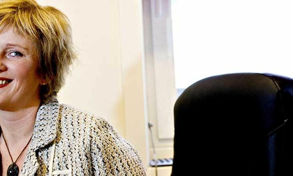 IKKE OFFER: Lise Aasmundstad (38) som har gått på metadon i sju år, mener at metadonbrukerne selv må kjempe kampen: For å bli synlige, for å få rettigheter og for å få rehabilitering. Foto: Aleksander Nordahl