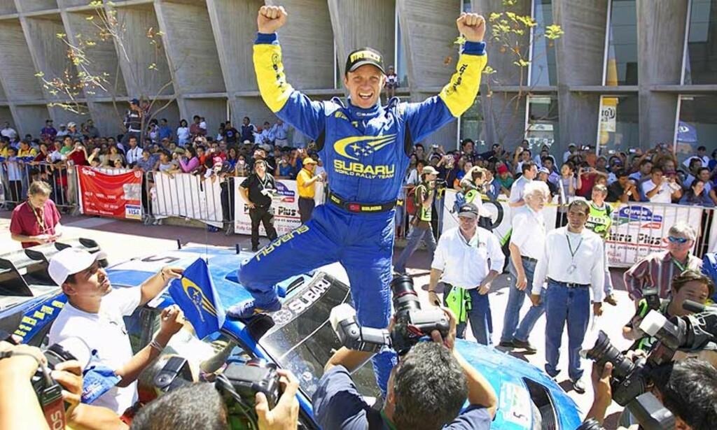 PÅ TOPP I MEXICO: Petter Solberg vant sin andre seier denne sesongen, og leder nå VM sammenlagt. Foto: ARNT E. FOLVIK
