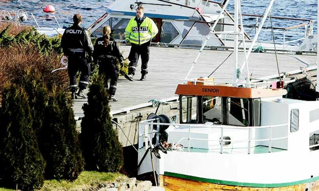MISTENKELIG DØDSFALL: Den døde kvinnen ble funnet i sjøen ved denne kaien i Kopervik. Foto: ALFRED AASE/Haugesunds Avis