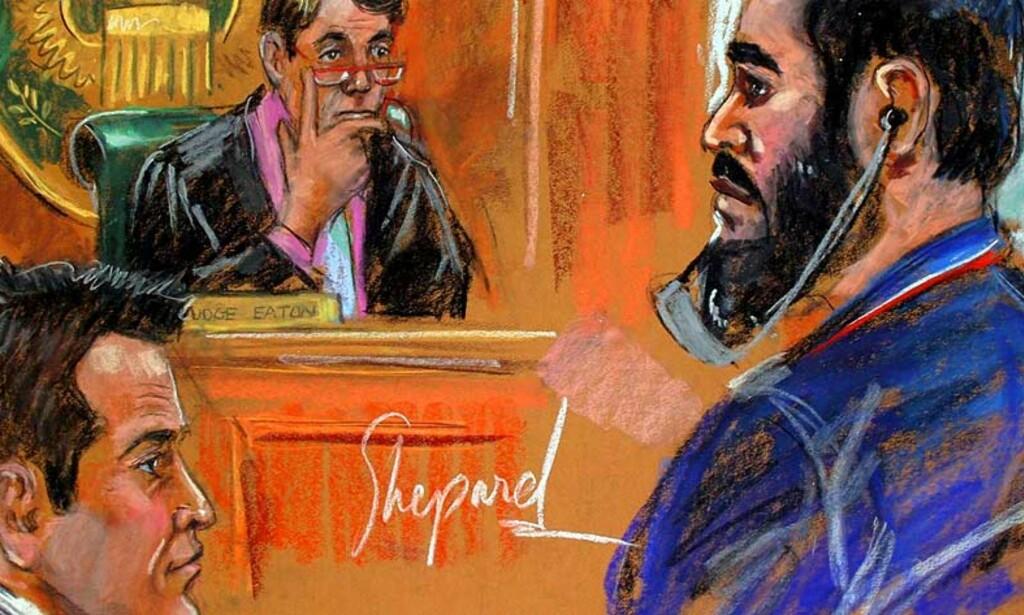 STAMMELEDER NARKOTATT:  Haji Bashir Noorzai risikerer livstid i fengsel for å ha omsatt narkotika for en halv milliard kroner. Foto: SCANPIX/EPA