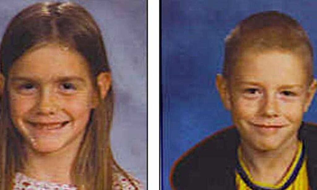 TRAGEDIE: Shasta (8) og Dylan (9) Groene har vært savnet siden søndag eller mandag. Resten av familien er myrdet. Foto: SCANPIX
