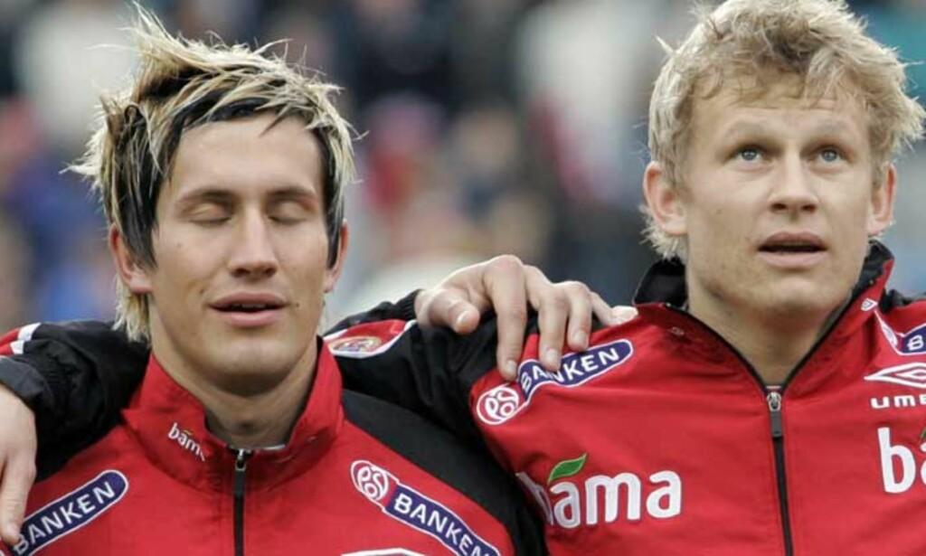 LANDSLAGSKOMPISER: Men Steffen Iversen og Morten Gamst Pedersen var nærme å også spille sammen på klubblaget. FOTO: SCANPIX
