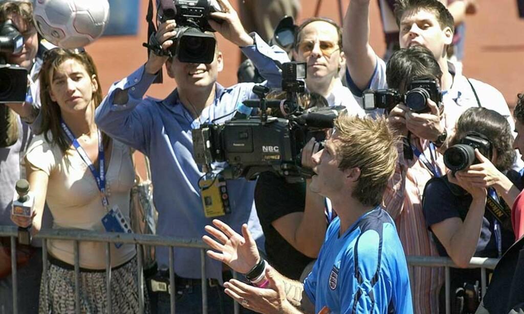 BECKHAM-SHOW: David Beckham uttalter seg om Glazer og United, Real Madrid og Major League i USA. Foto: SCANPIX/AP