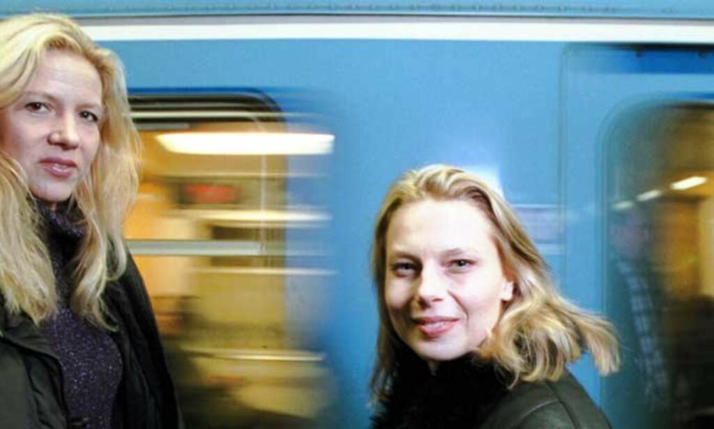 Liza Marklund (t.v.) og Annika Bengtzon: Sistnevnte personifisert av skuespiller Helena Bergström i «Paradiset» og «Sprängaren». Foto: Agnete Brun/Dagbladet