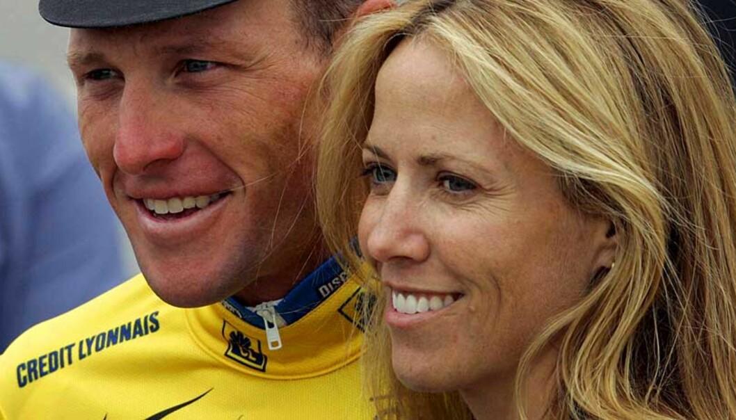 <strong><b>GIFTER SEG:</strong> </b>Lance Armstrong og Sheryl Crow. Foto: Scanpix