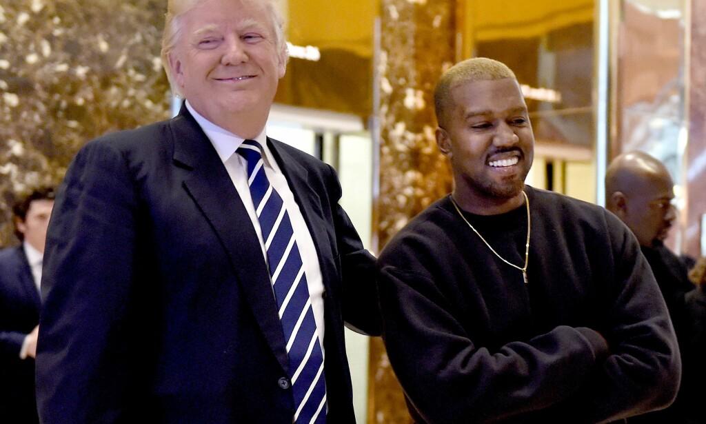DIREKTELINJE TIL DEN KOMMENDE PRESIDENTEN: Kanye West skal selv ha tatt initiativ til møtet med Donald Trump i New York. Foto: Scanpix