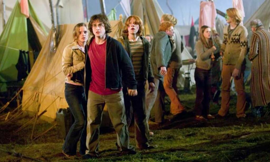 b>200 KRONER DYRERE ENN I IRLAND: Harry Potter - filmaktuell med «Harry Potter og ildbegeret» - har til sammen solgt 700 000 Harry Potter-bøker her til lands. Det er god butikk siden bøker er dyrt i Norge. FOTO: FILMWEB