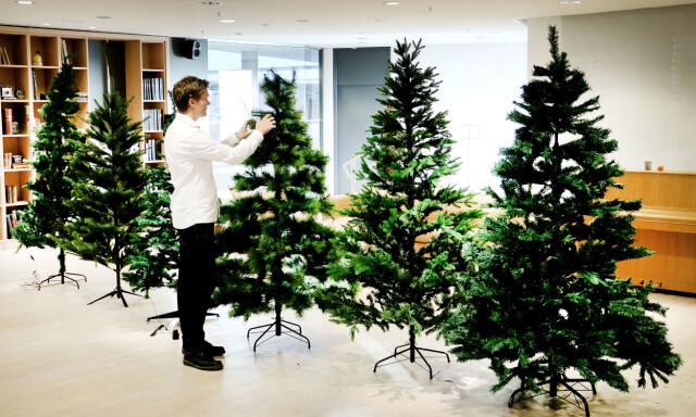 Ekstra Test av kunstige juletrær - Du grønne, glitrende tre av plast KJ-87