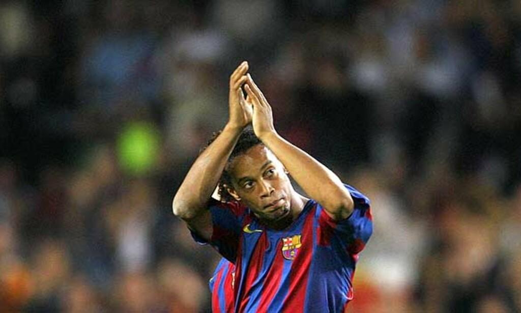 TEKNIKER: Få klarer å gjøre det Ronaldinho gjør på banen. Foto: REUTERS