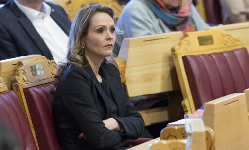 STORM: Som tidligere kulturministre har også Linda Hofstad Helleland (H) fått DAB-motbør. (Foto: Terje Bendiksby, NTB Scanpix)