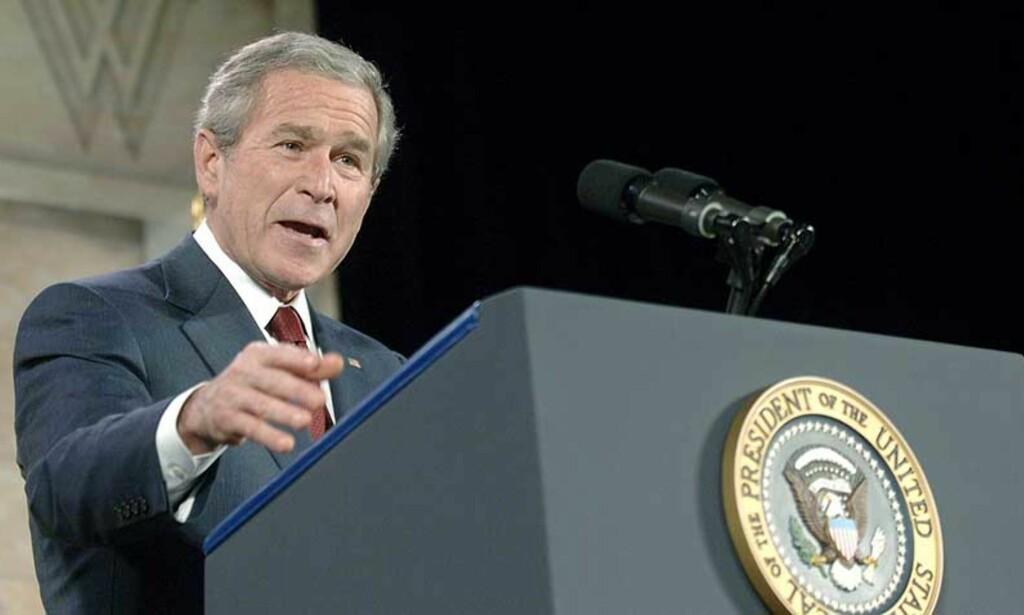 - MITT ANSVAR: George W. Bush lover å rydde opp i etterretningsorganisasjonene i USA. For å unngå feil av samme kaliber de presenterte verden før Irak-krigen. Foto: EPA/ Kevin Dietsch