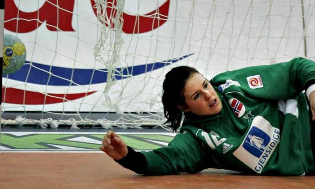 SKUFFET OVER VM-INNSATSEN: Kjersti Beck skal prøve å tenke minst mulig på håndball i jula. Foto: BJØRN LANGSEM