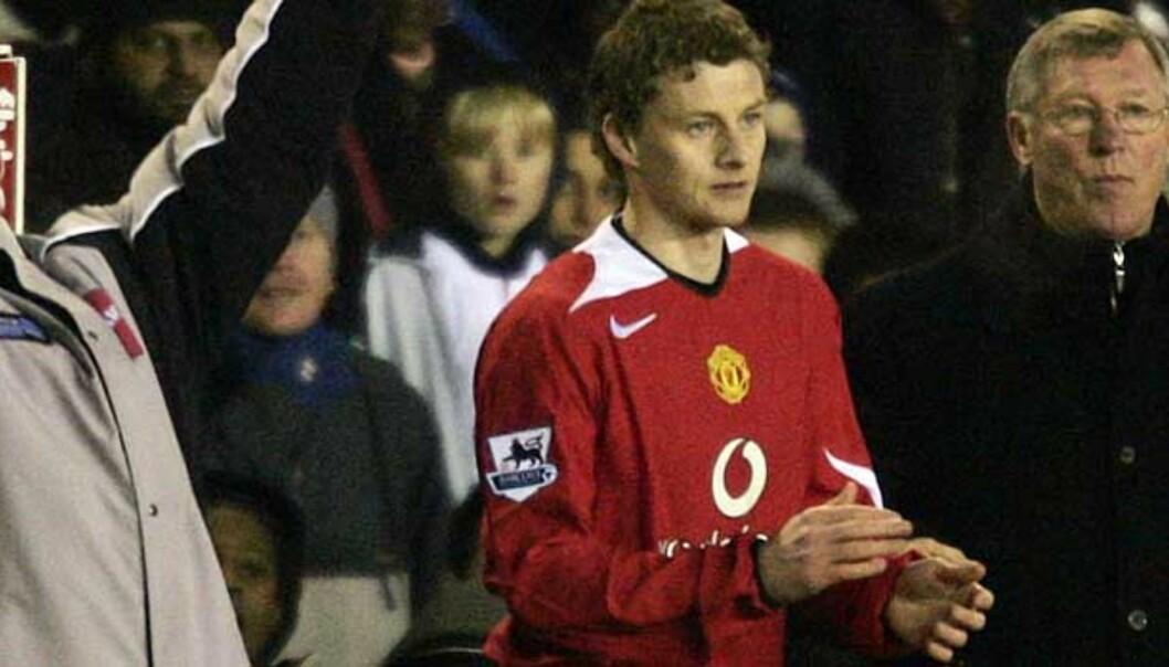 <b>TILBAKE:</b> Ole Gunnar Solskjær gjorde comeback for Manchester United i går. Foto: Reuters/Scanpix