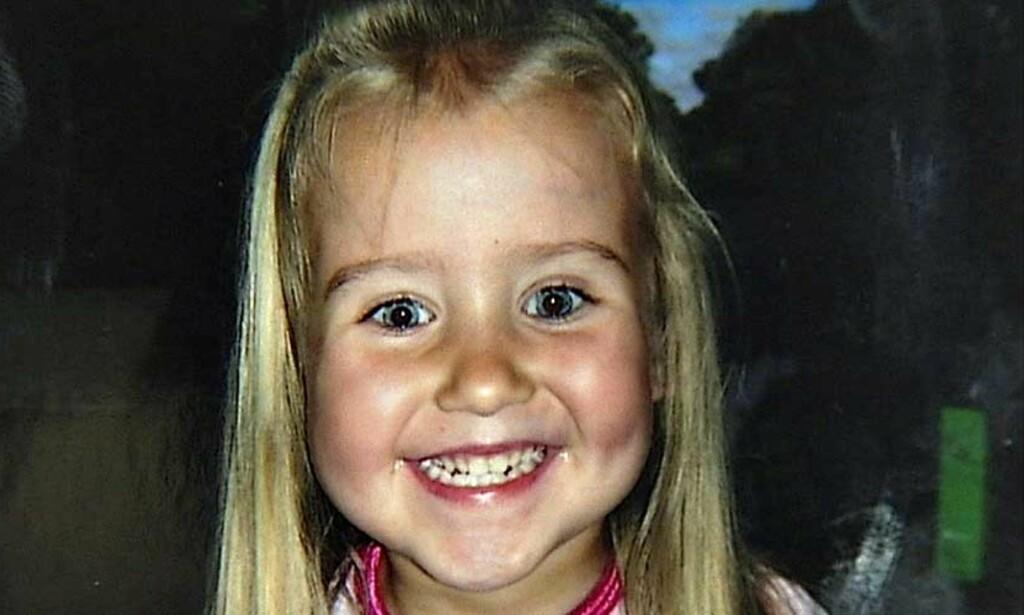 HOVEDPERSONEN:  Mens striden raser om skjebnen til fire år gamle Kristina Hjartåker, viser det seg blant annet at en lege støtter farens påstand om at datteren fremdeles har følelser og en viljestyrt motorikk. Foto: Privat