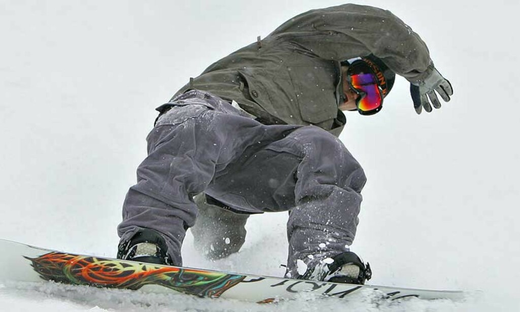 FØRSTE TRENING:  Daniel Franck var fornøyd med seg sjøl i Varingskollen i går. Foto: Arnt E. Folvik