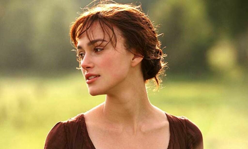 ENGELSK ROMANTIKK: Jane Austens «Stolthet og fordom» er filmatisert med Keira Knightley i hovedrollen. Men var ikke BBCs seks-episodes innspilling best? Foto: Filmweb