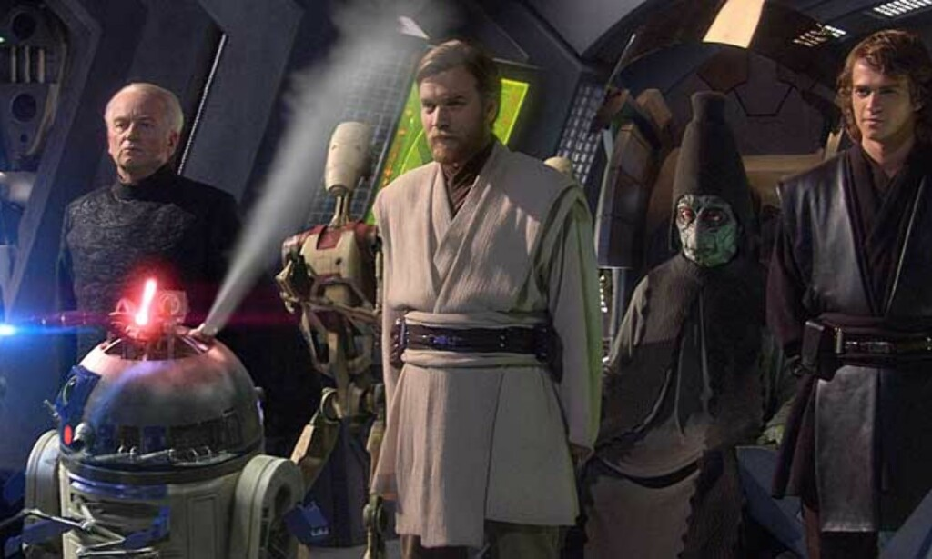 RAMMET AV PIRATER: «Revenge of the Sith» ble lagt ut på nettet før filmen hadde hatt ordinær kinopremiere i USA. FOTO: FILMWEB