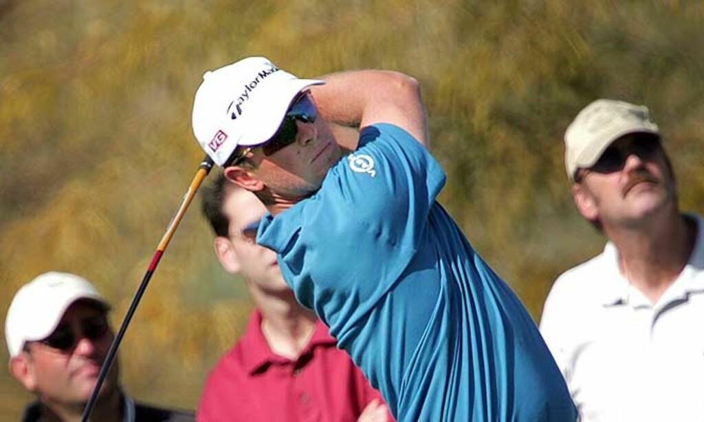 JORDNÆR: Henrik Bjørnstad er ingen stjerne på PGA-touren ennå, selv om han har imponert med glitrende spill i sine første turneringer i USA. Foto: AP/Scanpix
