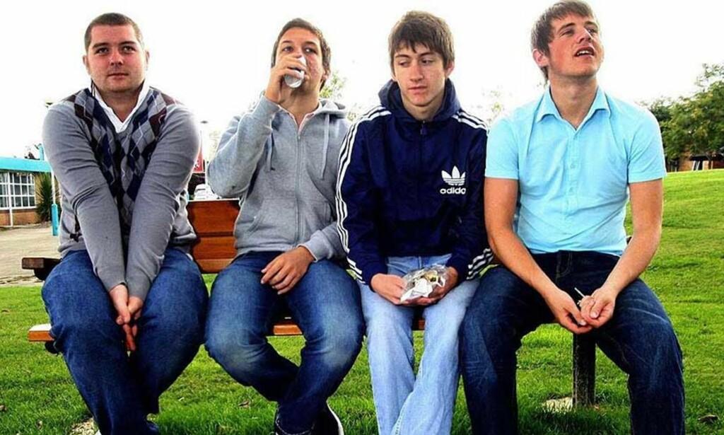 FRA CD TIL MP3?: The Arctic Monkeys blir ofte hyllet som en spydspiss i den digitale musikkrevolusjonen. Selv hevder de at de aldri brukte nettet aktivt i markedsføringen av bandet. FOTO: SCANPIX/AP