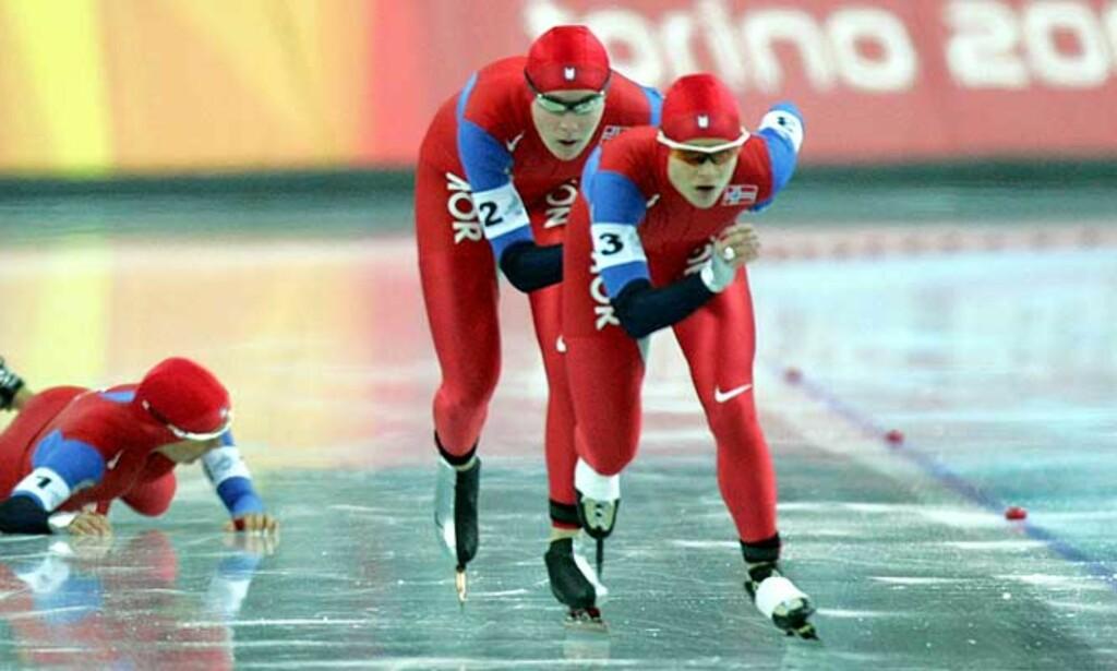 FALT: Annette Bjelkevik falt, og slik endte Norges sjanser på semifinale - og kanskje også finale. Foto: Tor Richardsen/Scanpix