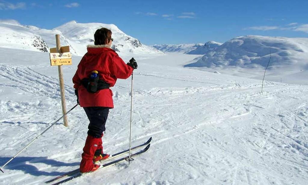 PÅSKEMINNER FRA I FJOR  Slik var det på påskefjellet i Jotunheimen i mars 2005. Alle som skal på fjellet i Sør-Norge til uka, kan glede seg til påske-vorspiel. FOTO: Scanpix.