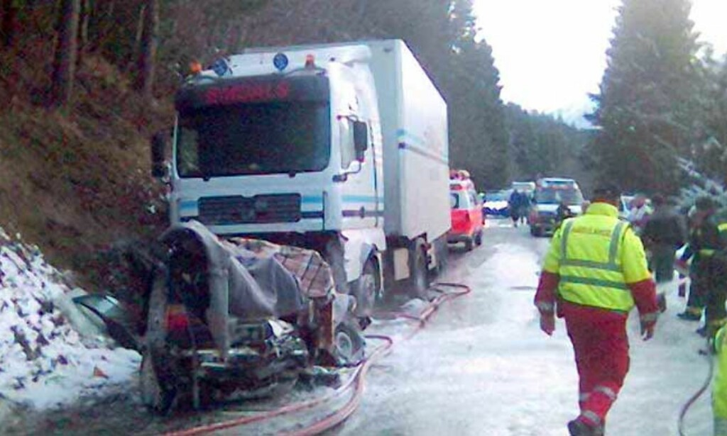 EN AV FEM OVERLEVDE: Dødsulykke krevde fire unge liv i Tresfjord søndag. Foto: MMS-tipser