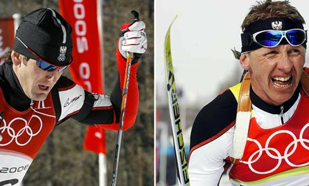 UTESTENGT: De østerrikske skiskytterne Wolfgang Rottmann (t.v.) og Wolfgang Perner er utestengt fra den østerrikske OL-troppen. Foto: AP/Scanpix