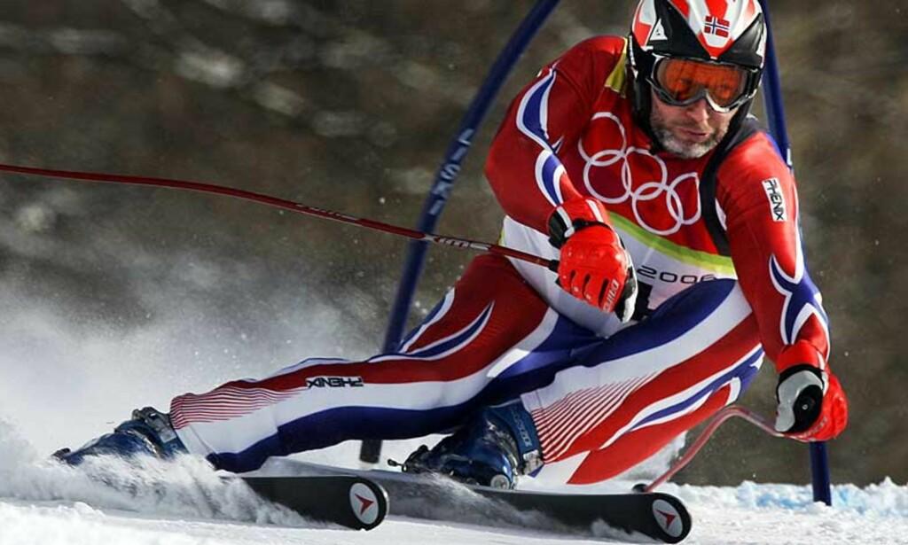 ETT RENN IGJEN: I Åra skal Lasse Kjus kjøre sitt siste alpinrenn. I dag ble mesterskapskarrieren avsluttet. Foto: SCANPIX