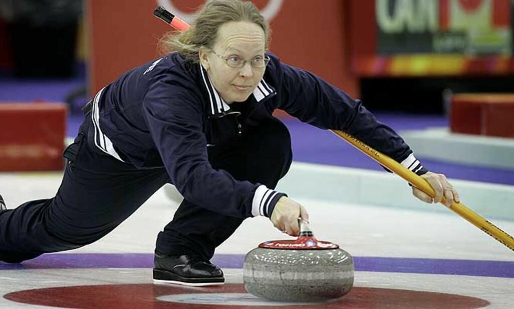 DORDI FOR ALLE: I dag møter vår curlingdronning Sverige i semifinalen. Foto: Hans Arne Vedlog