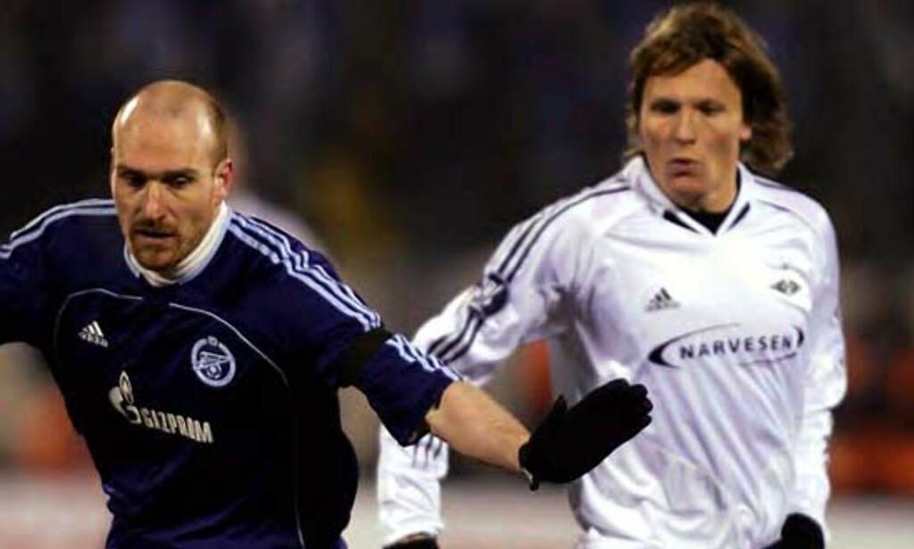 FULL KONTROLL: Erik Hagen og Zenit St. Petersburg hadde etter hvert god kontroll på Rosenborg. Foto: SCANPIX