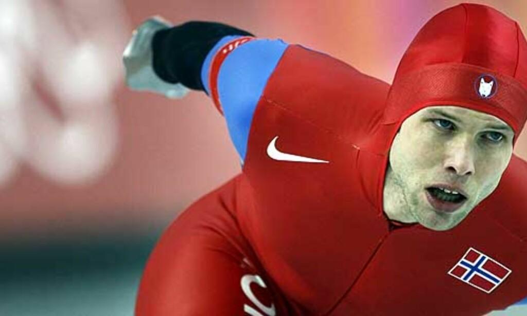 FJERDEPLASS: Eskil Ervik ble nummer fire på dagens 5000-meter i Herenveen. Her fra 5000-meteren i OL, der Ervik tok en skuffende 10. plass. Foto: Scanpix