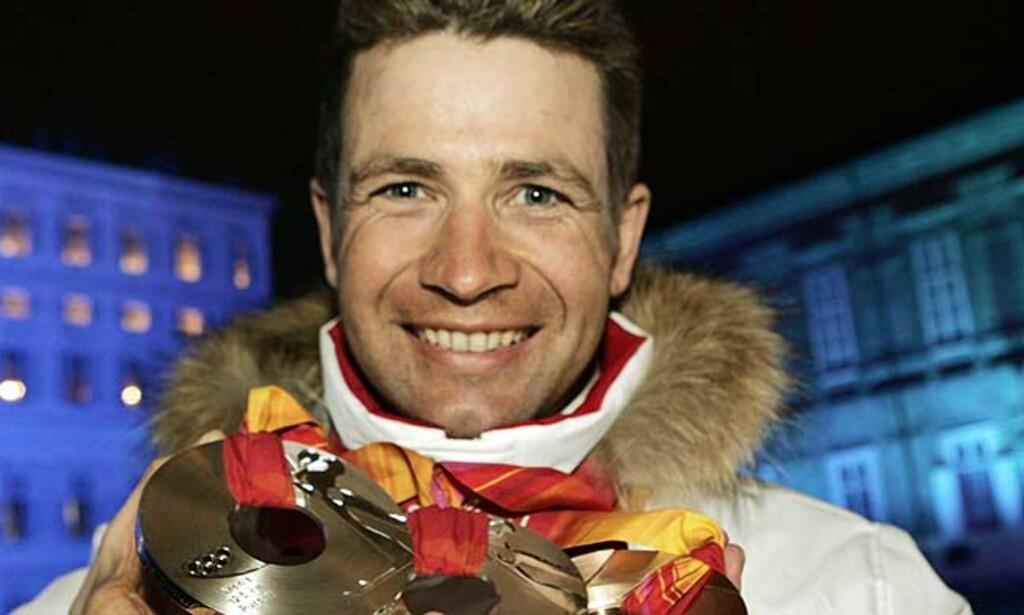 INGEN OL-SEIER: To sølv og én bronse for Ole Einar Bjørndalen i OL. Men på sprinten i Slovenia i dag vant nordmannen. Foto: Scanpix/Ap