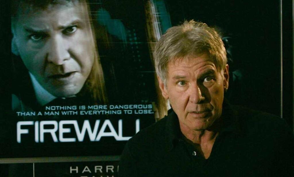 Harrison Ford er snart klar med filmen «Firewall». Nå forteller han at han gjerne lager film med George Clooney. Foto: Scanpix