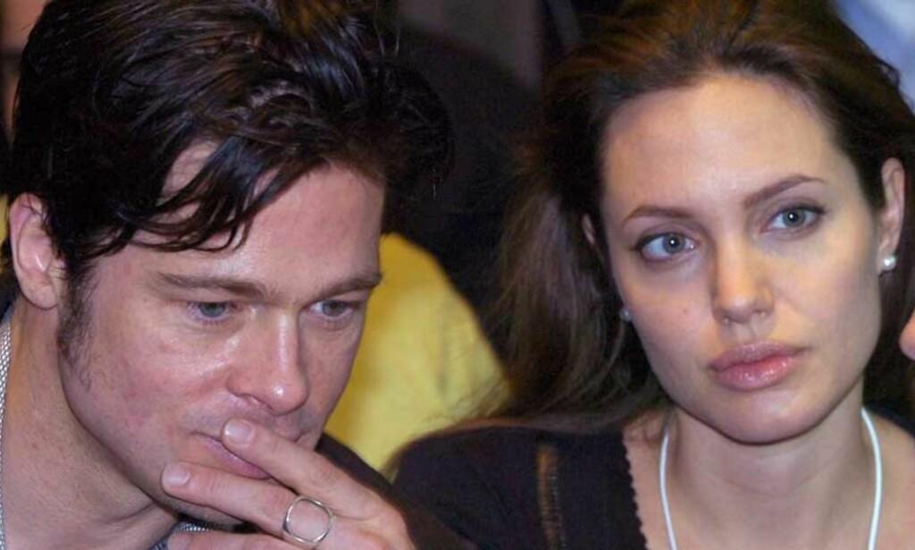 FORFULGT: Kjendispressen jager Angelina Jolie og Brad Pitt. Nå har det også gått ut over en liten, italiensk by. FOTO: SCANPIX/EPA