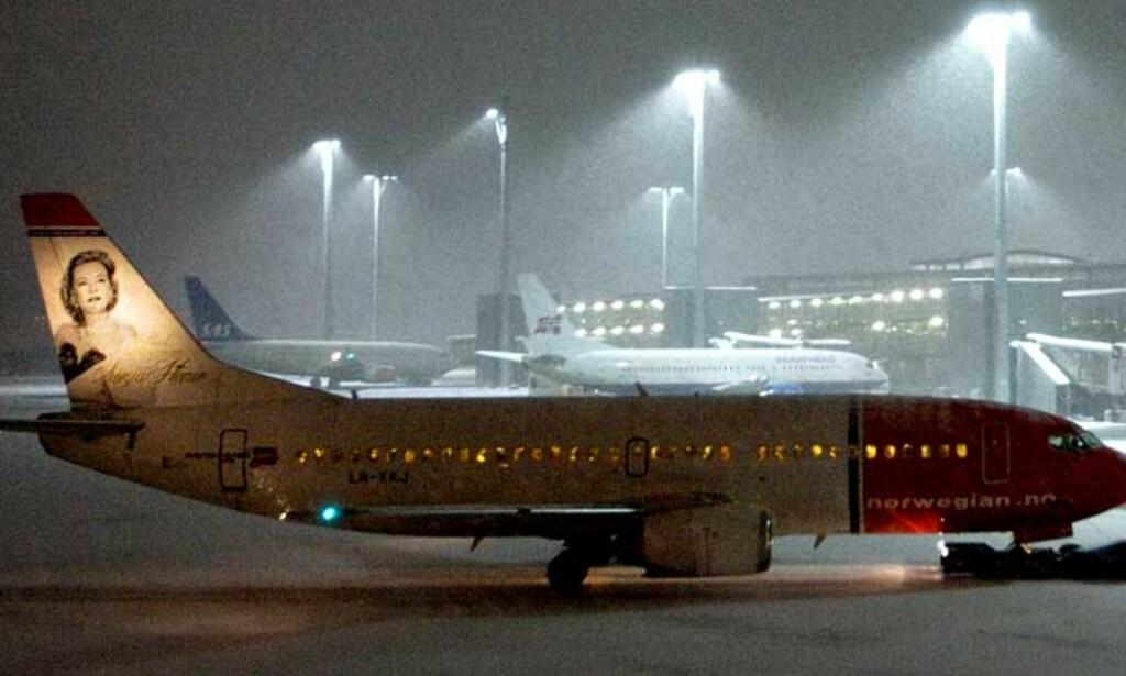 NORWEGIAN: Et Norwegian-fly måtte i dag tidlig avbryte landing på Flesland i Bergen fordi et annet fly sto på rullebanen. Illustrasjonsfotografiet er ikke fra i dag.