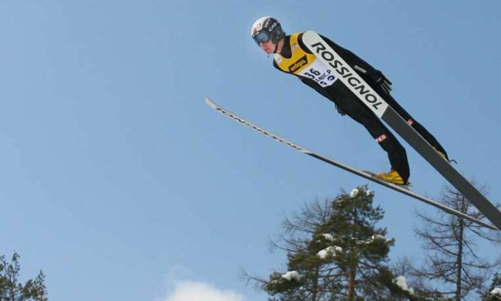 HÅPER PÅ SEIER: Tommy Ingebrigtsen hoppet 8. best i kvalifiseringen i Planica i går, men i dag er det alvor. Foto: Scanpix