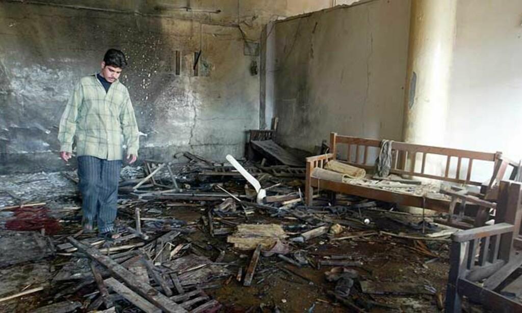 19 DREPT I DAG: 16 i Muqdadiya og tre i Bagdad, da en bombe eksploderte på en kafé (bildet). Foto: SCANPIX