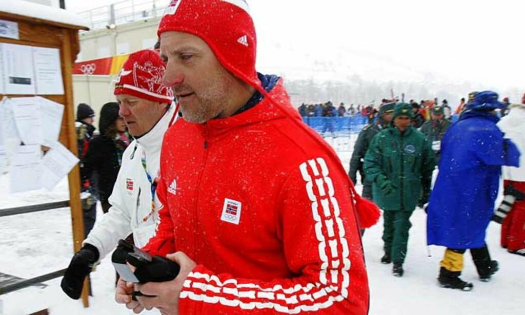 GIR SEG: Terje Langli er lei av all reisingen med smøreteamet. Foto: Scanpix