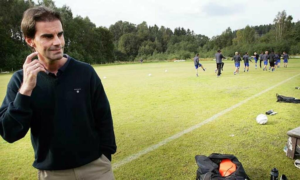 FORBANNET: Lyn-direktør Morgan Andersen hisser seg opp når han får høre påstandene fra 3. divisjonsklubben Høyang, om at Oslo-klubben skal ha forsøkt å fiske to talenter. Foto: SCANPIX