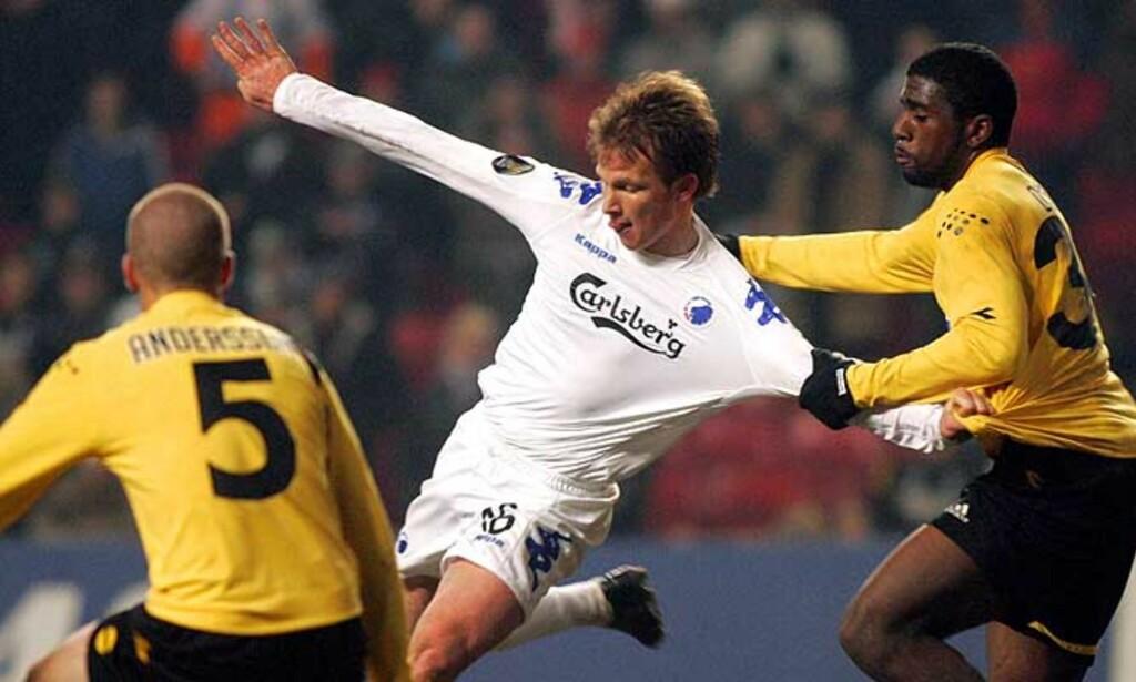 FINALEMOTSTANDERE?: Lillestrøm og FCK har møtt hverandre to ganger i gruppespillet i Royal League. Nå kan de møtes i finalen. Foto: SCANPIX