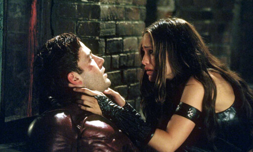 FIKK FØLELSER FOR HVERANDRE: Affleck spilte Matt Murdock og Garner spilte Elektra Natchios i Daredevil, filmen de falt for hverandre i 2003. Foto: NTB Scanpix