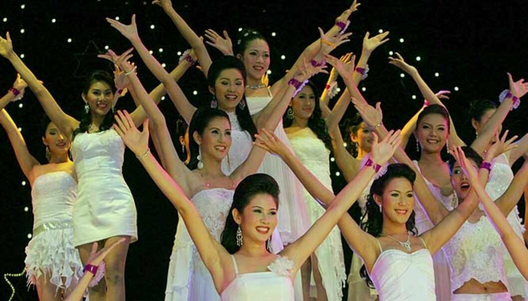 <strong><b>POPULÆRT SHOW:</strong></b> Den thailandske finalen holdes på legendariske Tiffany\'s i Pattaya. Foto: Scanpix