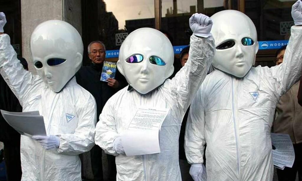 BORTFØRT?: De som har blitt bortført av romvesener kan nå få tysk advokathjelp. Illustrasjonsfoto: AP/Scanpix