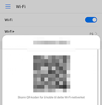 <strong>DEL MED QR:</strong> Lei av å lete frem passordet? La gjestene koble seg på nett ved å skanne QR-koden fra din mobilskjerm. Foto: Pål Joakim Pollen