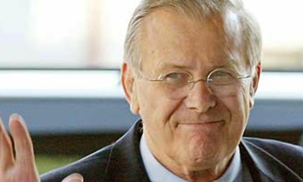 image: Donald Rumsfeld går av
