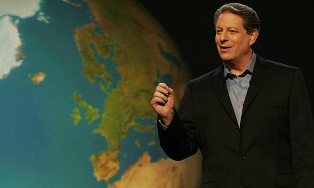 REDDE KLODEN: Al Gore har laget en dokumentar om følgene av global oppvarming. Foto: SCANPIX